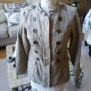 MILITARY Style FITTED JACKET BY DKNY SZ S